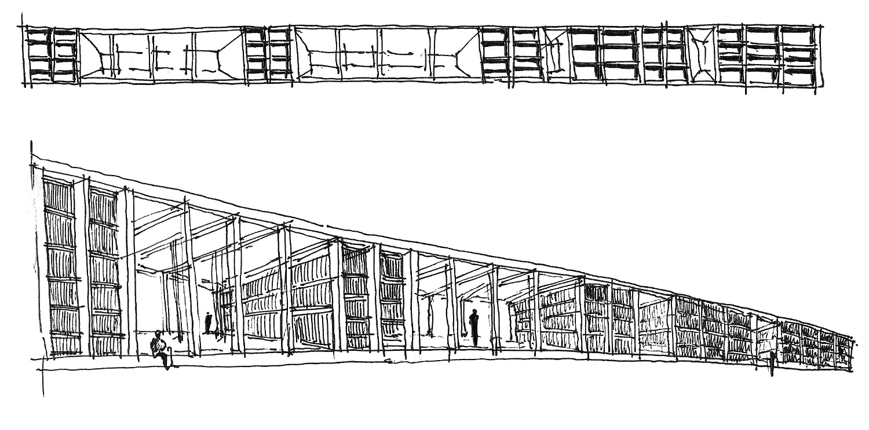 Esquisso da obra N10-Indoor, COMOCO Arquitectos